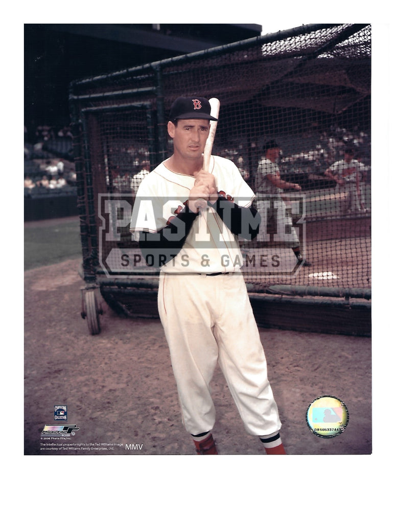 Ted Williams 8X10 Boston Red Sox (Posing With Bat) - Pastime Sports & Games