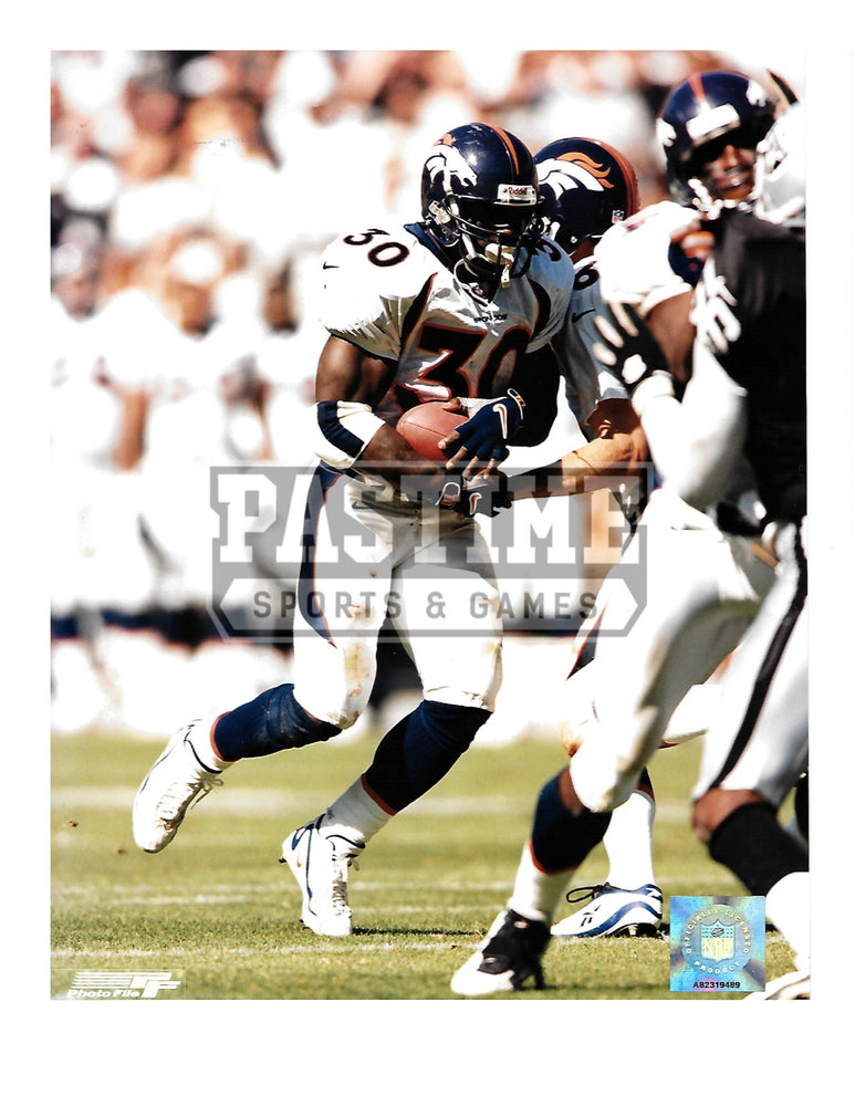 Terrell Davis 8X10 Denver Broncos (Running With Ball - Pastime Sports & Games