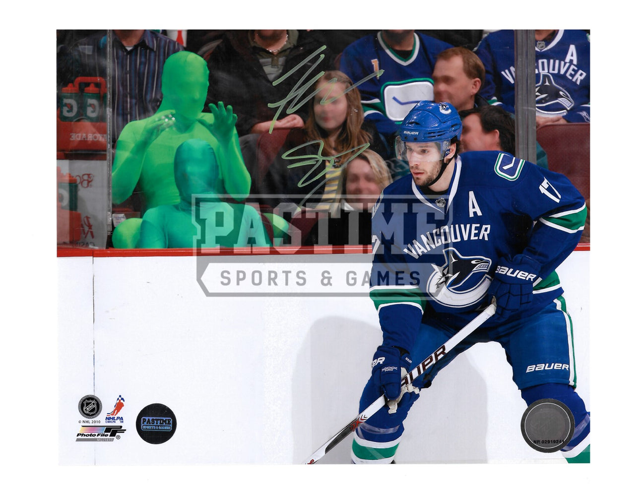 The Green Men Autographed 8X10 (With Ryan Kesler) - Pastime Sports & Games