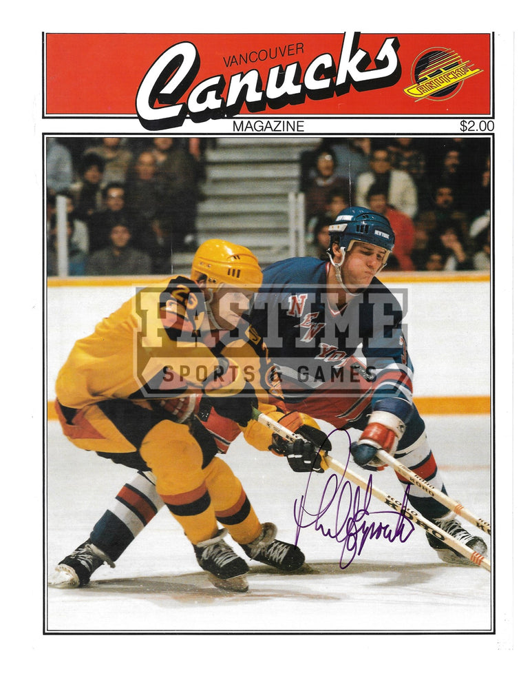Thomas Gradin Autographed 8X10 Magaziine Page Vancouver Canucks Away Jersey (Canucks Magazine) - Pastime Sports & Games