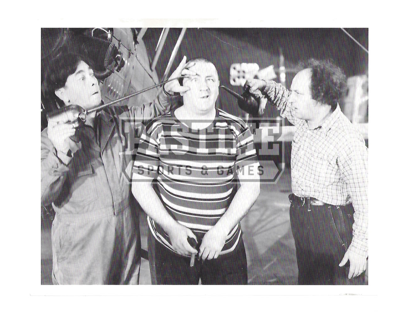 Three Stooges 8X10 Black and White (Being Silly) - Pastime Sports & Games
