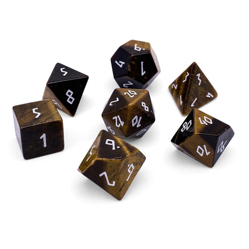 Norse Foundry 7pc RPG Gemstone Set Tigers Eye - Pastime Sports & Games