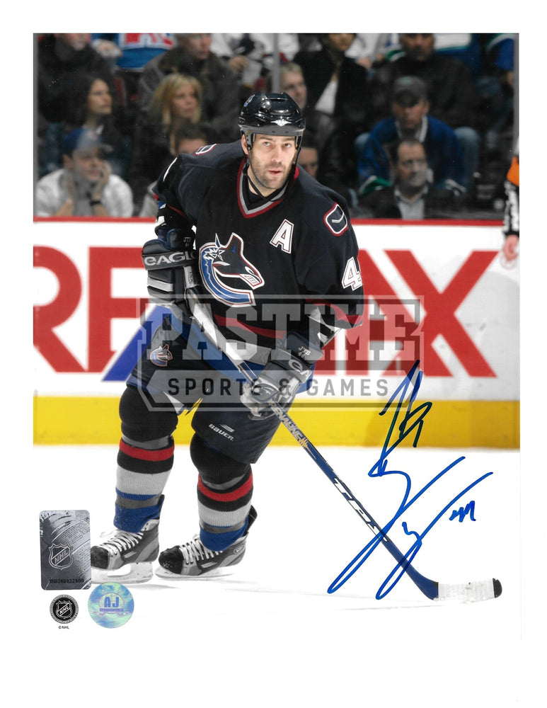 Todd Bertuzzi Autographed 8X10 Vancouver Canucks Home Jersey (Skating) - Pastime Sports & Games