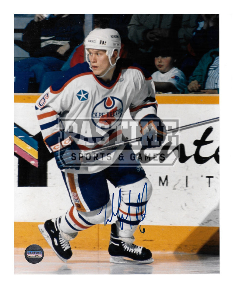 Todd Marchant Autographed 8X10 Cape Breton Away Jersey (Skating) - Pastime Sports & Games