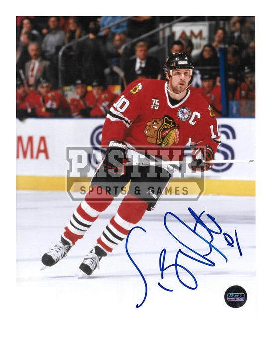 Tony Amonte Autographed 8X10 Chicago Blackhawks Home Jersey (Skating) - Pastime Sports & Games