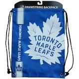 Toronto Maple Leafs Drawstring Bag Hockey (Blue FOCO) - Pastime Sports & Games