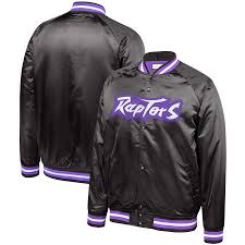 Toronto Raptors Satin Jacket (Black Mitchell & Ness) - Pastime Sports & Games