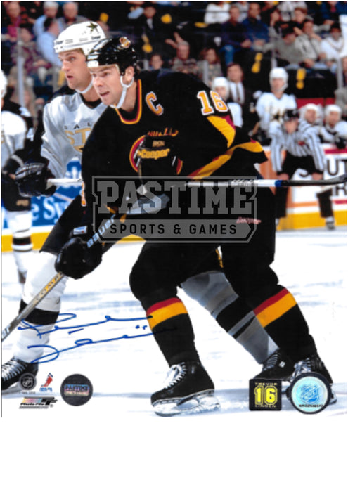 Trevor Linden Autographed 8X10 Vancouver Canucks Home Jersey (In Position) - Pastime Sports & Games