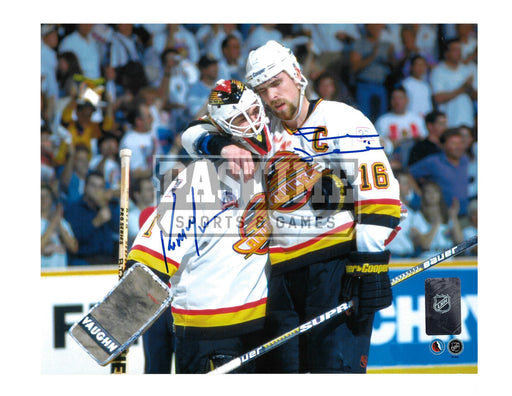 Trevor Linden & Kirk Mclean Autographed 8X10 Vacouver Canucks Away Jersey (Heart And Soul) - Pastime Sports & Games