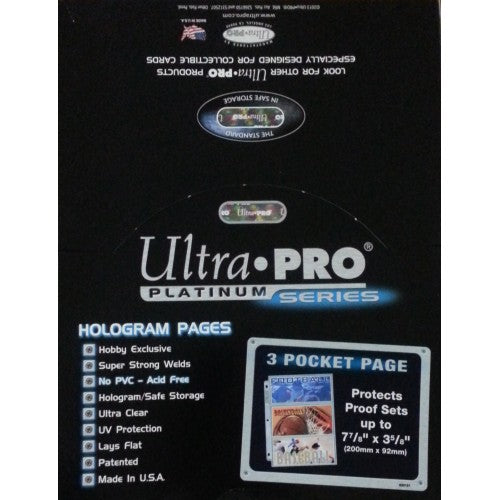 Ultra Pro Platinum Series 3 Pocket Pages - Pastime Sports & Games