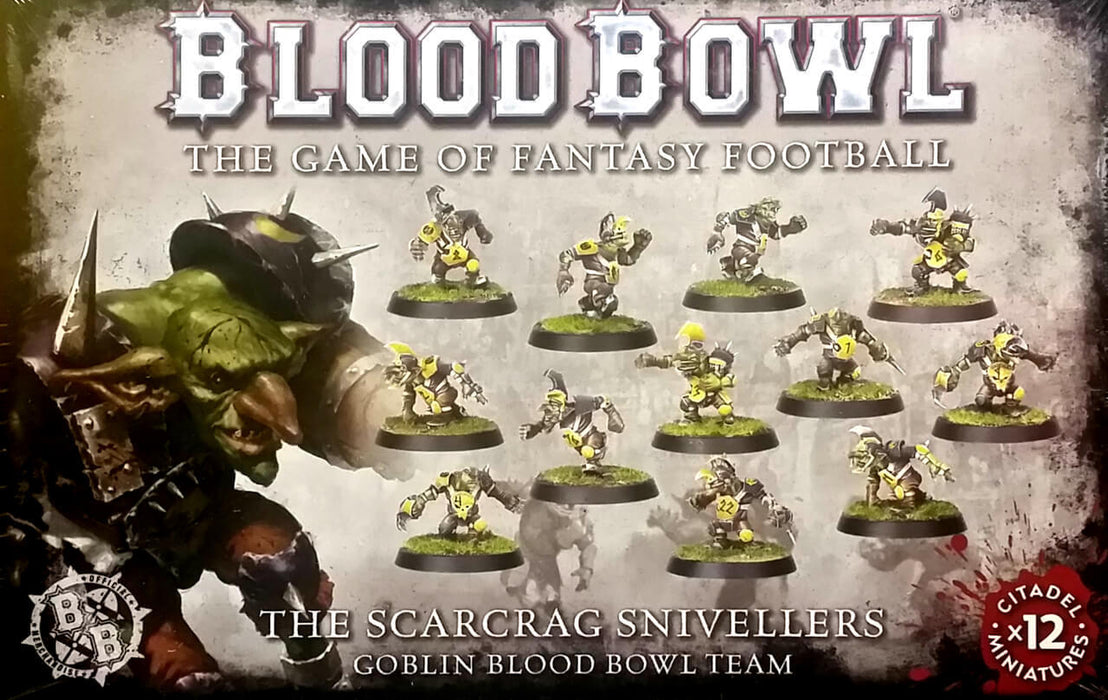 Blood Bowl Scarcrag Snivellers Goblin Blood Bowl Team (200-27) - Pastime Sports & Games