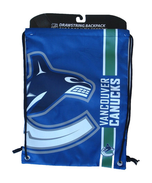Vancouver Canucks Hockey Drawstring Bag Hockey (Blue FOCO) - Pastime Sports & Games