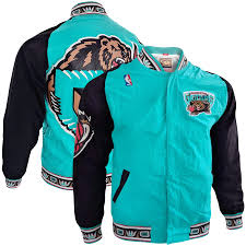 Vancouver Grizzlies Warm-Up Basketball Jacket (Teal Mitchell & Ness) - Pastime Sports & Games
