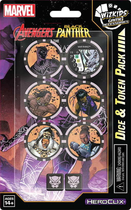 Marvel Heroclix Avengers Black Panther and Illuminati Token & Dice Set - Pastime Sports & Games