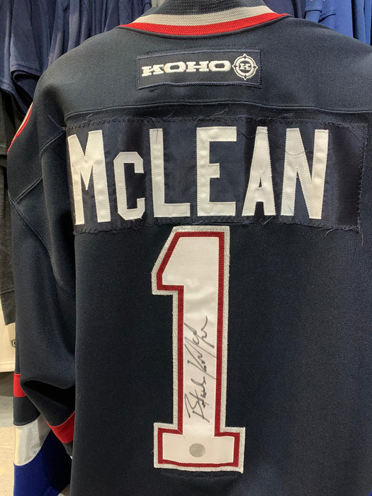 Kirk McLean Autographed Game Worn Alumni Vancouver Canucks Hockey Jersey - Pastime Sports & Games
