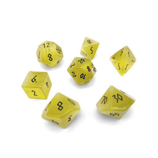 Norse Foundry 7pc RPG Gemstone Set Yellow Cats Eye - Pastime Sports & Games
