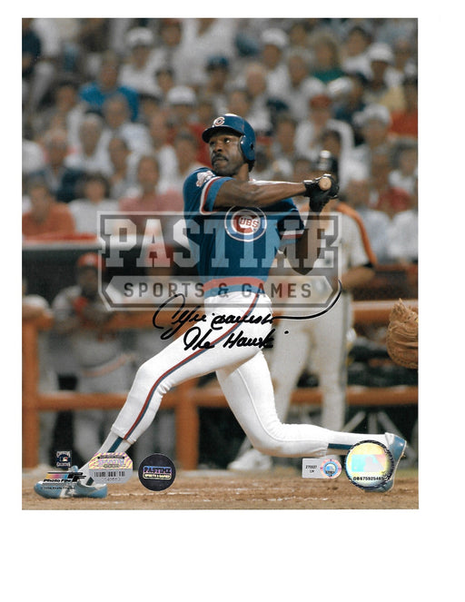 Andre Dawson Autographed 8X10 Chicago Cubs (Swinging Bat) - Pastime Sports & Games