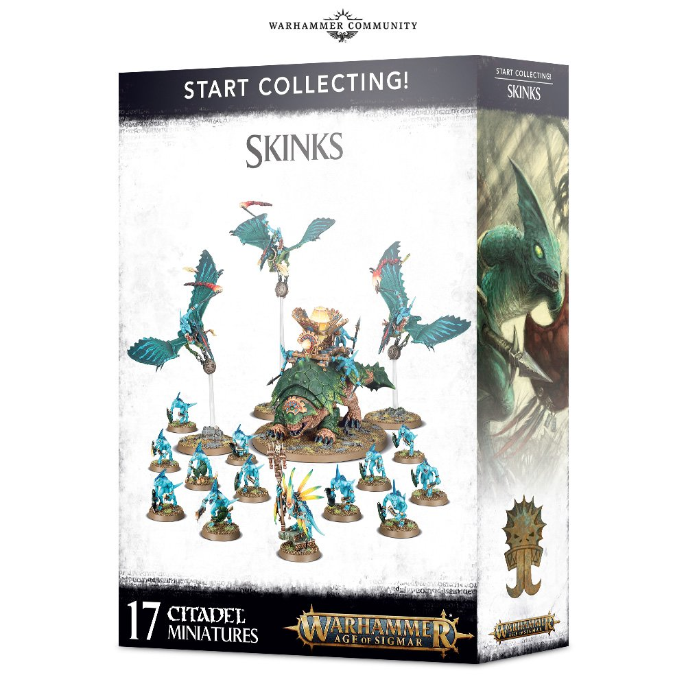 Warhammer Age of Sigmar Start Collecting! Skinks (70-72) - Pastime Sports & Games