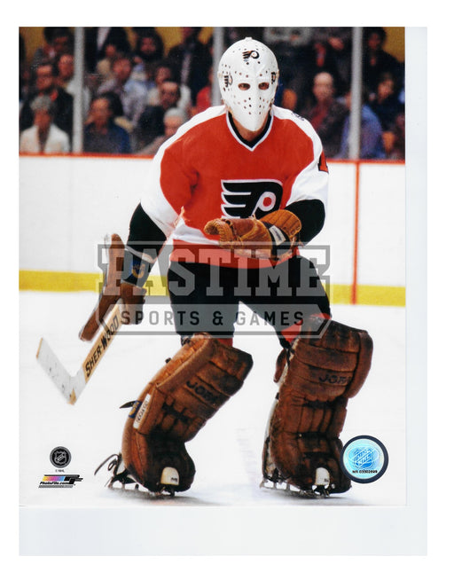 Bernie Parent 8X10 Philadelphia Flyers Away Jersey (Away From Net) - Pastime Sports & Games