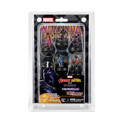 Marvel Heroclix Avengers Black Panther and Illuminati Fast Force - Pastime Sports & Games
