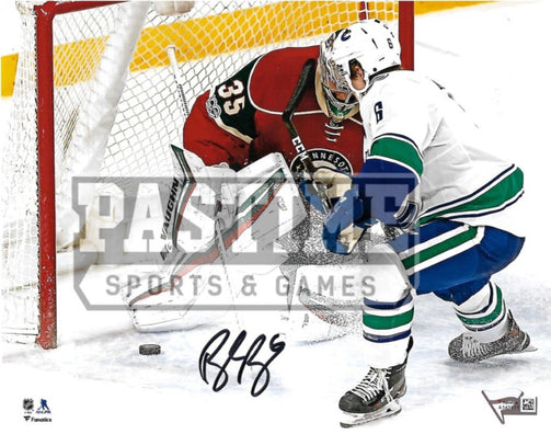 Brock Boeser Autographed 8X10 Vancouver Canucks Away Jersey (Shooting) - Pastime Sports & Games