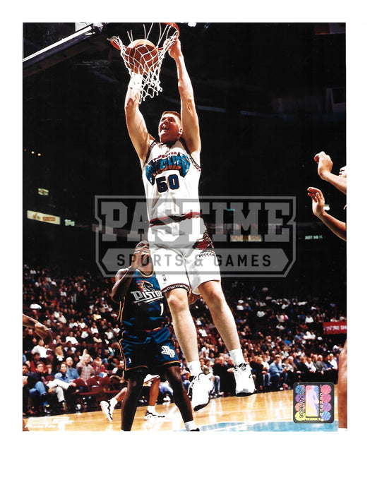 Bryant Reeves 8X10 Vancouver Grizzlies (Dunking Ball) - Pastime Sports & Games