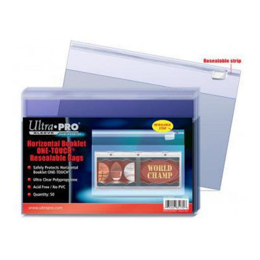 Ultra Pro Sleeve Series Horizontal Booklet One-Touch Resealable Bags - Pastime Sports & Games