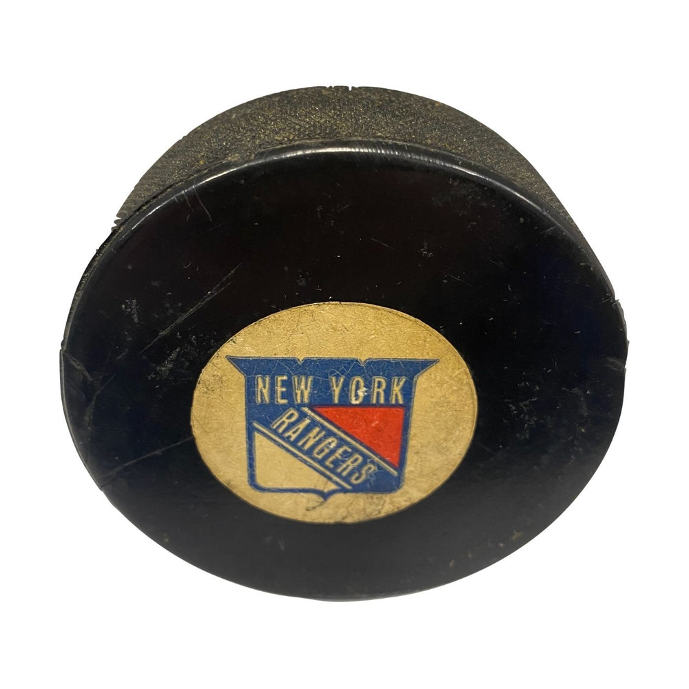 Vintage New York Rangers Hockey Puck