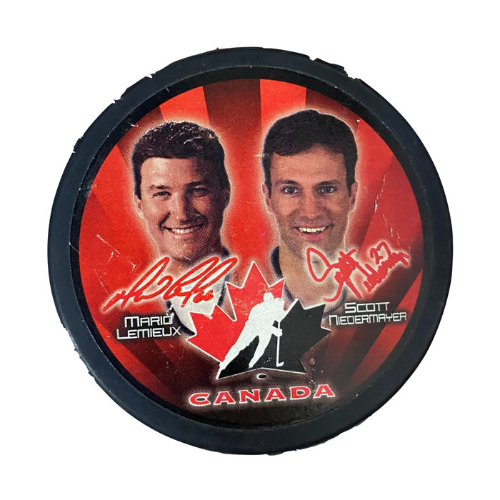 Team Canada Mario Lemieux/Scott Niedermayer Puck - Pastime Sports & Games