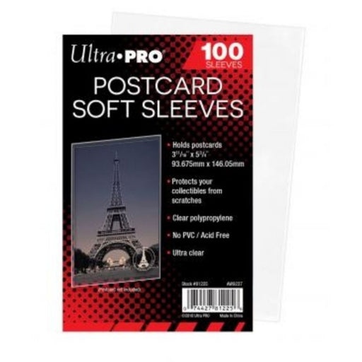 Ultra Pro Postcard Soft Sleeves - Pastime Sports & Games