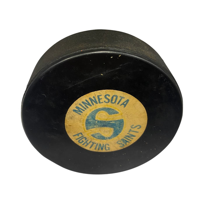 Vintage Minnesota Fighting Saints Hockey Puck