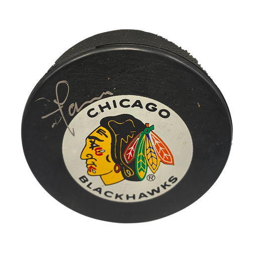 Steve Larmar Autographed Hockey Puck - Pastime Sports & Games