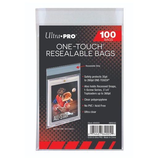 Ultra Pro One-Touch Resealable Bags - Pastime Sports & Games