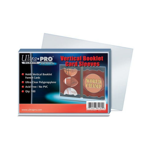 Ultra Pro Sleeve Series Vertical Booklet Card Sleeves - Pastime Sports & Games