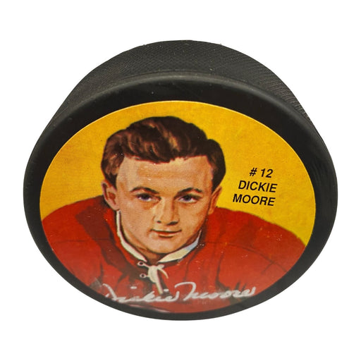 Dickie Moore Autographed Photo Puck