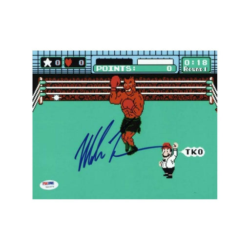 "Mike Tyson ""Punch Out"" Autorgraphed Photo - Pastime Sports & Games"