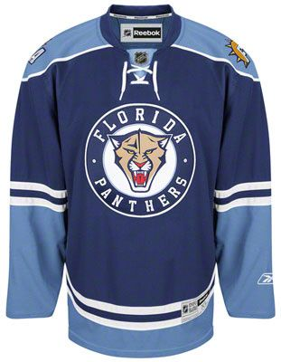 2009/10 Florida Panthers Reebok Home Alternate Blue Jersey - Pastime Sports & Games