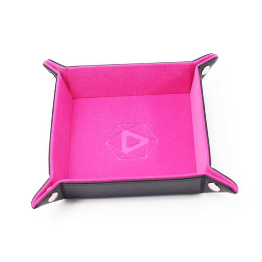 Die Hard Folding Dice Tray Square Pink Velvet - Pastime Sports & Games