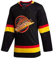 2019/20 Vancouver Canucks Skate Hockey Jersey (Black Adidas) - Pastime Sports & Games