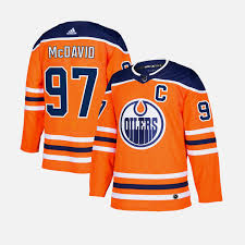 2017/18 Edmonton Oilers Connor Mcdavid Adidas Home Orange Jersey - Pastime Sports & Games