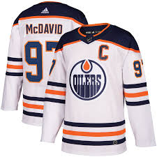 2017/18 Edmonton Oilers Connor Mcdavid Adidas Away White Jersey - Pastime Sports & Games