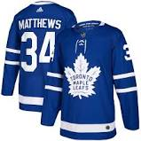 2017/18 Toronto Maple Leafs Auston Matthews Adidas Home Blue Jersey - Pastime Sports & Games