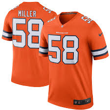 Miller Denver Broncos Colour Rush Alternate Jersey Nike - Pastime Sports & Games