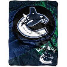 Vancouver Canucks Micro Raschel Throw - Pastime Sports & Games