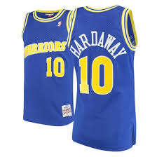 1990/91 Tim Hardaway Golden State Warriors  Basketball Jersey (Navy Mitchell &Ness) - Pastime Sports & Games