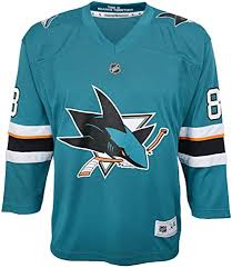 San Jose Sharks Youth Home Hockey Jersey (Teal Outerstuff) - Pastime Sports & Games