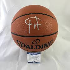 Beckett Authenticated Giannis Antetokounmpo Signed Spalding Basketball - Pastime Sports & Games