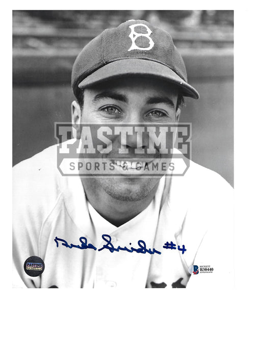 Duke Snider Autographed 8X10 Boston Red Sox (Pose) - Pastime Sports & Games