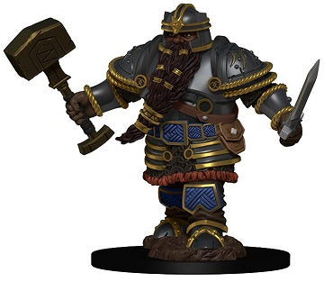 D&D Icons of the Realms Premium Miniatures Dwarf Male Fighter (93010) - Pastime Sports & Games