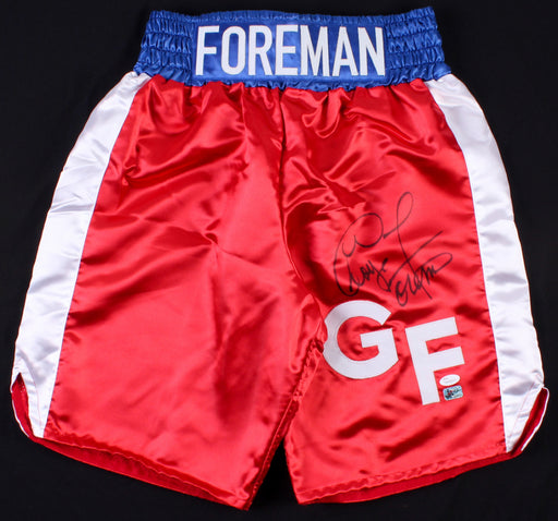 George Foreman Autographed Boxing Shorts - Pastime Sports & Games